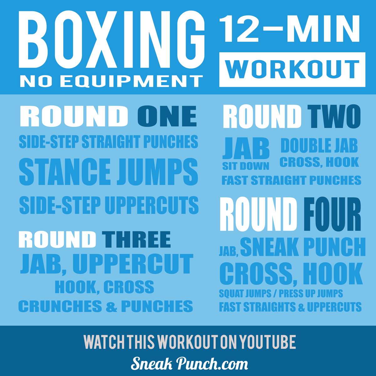 12 Minute Boxing Workout At Home No Equipment